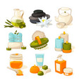 symbols massage or spa salon therapy vector image vector image