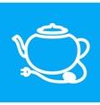 Tea kettle vector image