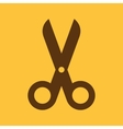 The scissors icon Shears and clippers cut off vector image vector image