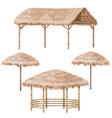 Tropic gazebo and parasol set vector image