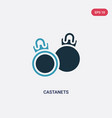 two color castanets icon from music concept vector image