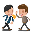 Two Man Couple Celebrating Hand vector image