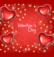valentine day glowing lights and balloons vector image vector image