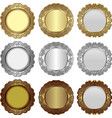 vintage medals vector image