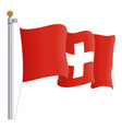 waving switzerland flag isolated on a white vector image