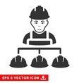 Builder Management EPS Icon vector image