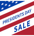 happy presidents day sale banner vector image