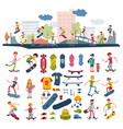 skateboarders on skateboard characters vector image