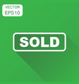 sold seal stamp icon business concept sold vector image