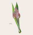 pink lotus for buddha sketch vector image