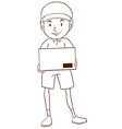 A plain sketch of a postman vector image vector image