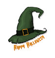 an of a cartoon halloween witch hat happy vector image vector image