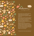 autumn doodle style concept vector image vector image