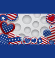 background usa symbols vector image vector image