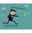 Business executive running vector image vector image