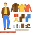 Business Man Clothes Icons vector image vector image