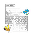 cartoon bee maze game vector image