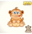 cartoon monkey character vector image vector image