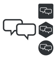 Chat icon set monochrome vector image