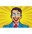 Clown smile joker face vector image