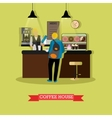coffee house design with vector image vector image