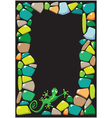 colored stones and lizard vector image