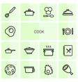 cook icons vector image vector image