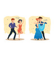 couples dance passionate tango sensual waltz vector image