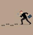 detective businessman finding money vector image