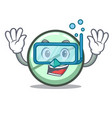 diving drug tablet character cartoon vector image
