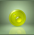 drop of dew yellow style icon for app or web vector image vector image