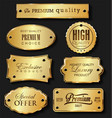 empty golden sale labels retro vintage design vector image