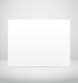 empty picture frame in white room vector image vector image