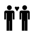 enamored guys icon vector image