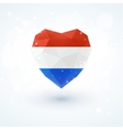 Flag of the Netherlands in shape diamond glass vector image