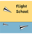 Flight school vector image vector image