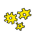 free hand drawing of gear wheels vector image vector image