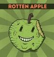 Funny cartoon malicious green monster apple vector image