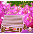 gingerbread house Christmas vector image vector image
