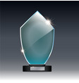 glass trophy in gray background vector image