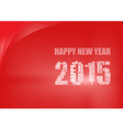 happy new year 2015 background vector image