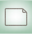 horizontal document sign vector image vector image
