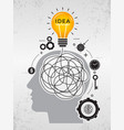 idea search chaos lines mind thinking about vector image vector image