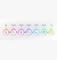 infograph steps element circle graphic chart vector image vector image