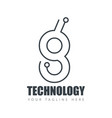 initial letter design technology logo template vector image vector image