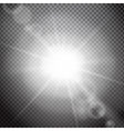 Lens flare on a transparent background vector image vector image