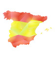 map spain polygon vector image
