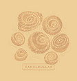 naive cinnamon rolls in craft colors for packing vector image vector image