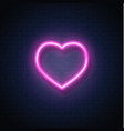 neon heart icon sign vector image