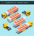 oil tanker truck vector image vector image